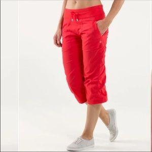 Lululemon Red HR Dance Studio Crop Size 6 059